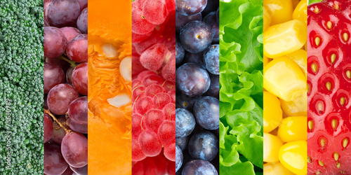 Poster Fruit Healthy food background