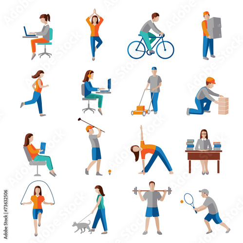 Fotografia  Physical activity icons