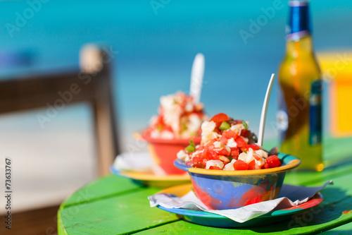 Bahamian conch salad Fototapete