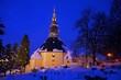 canvas print picture - Seiffen Kirche Winter - Seiffen church in winter 04