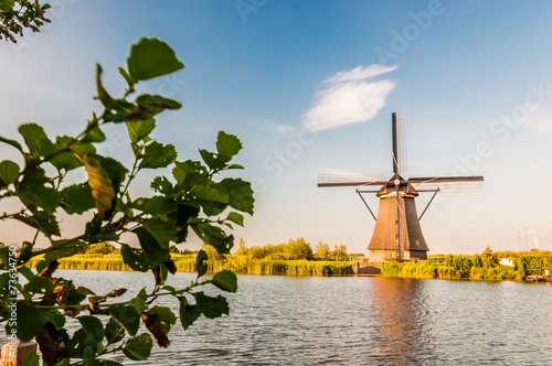 Historians Dutch windmills near Rotterdam Canvas Print