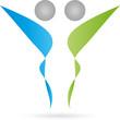 Logo, 3D, Menschen, Zwei Personen, Paar