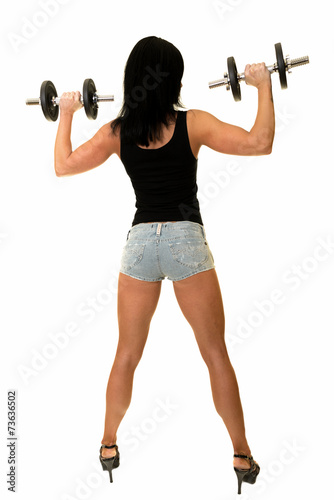 Fille Fitness Photo fille fitness isolé sur fond blanc - buy this stock photo and