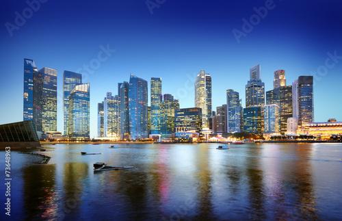 Keuken foto achterwand Verenigde Staten Cityscape Singapore Panoramic Night Concept