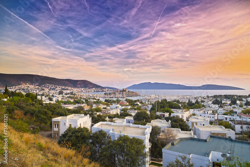 Aluminium Prints Turkey Bodrum in sunset, Turkey
