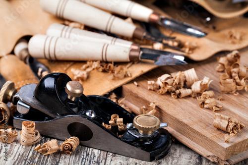 Valokuva  wood carving tools