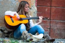 Street Musician Girl