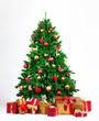 Weihnachtsbaum mit vielen Geschenkeboxen