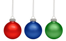 Christmas Balls Isolated On Wh...