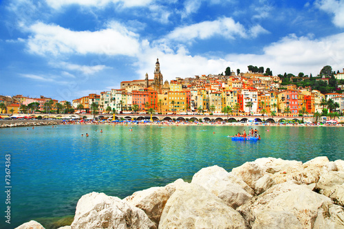 Photo Menton - sunny town in south of France