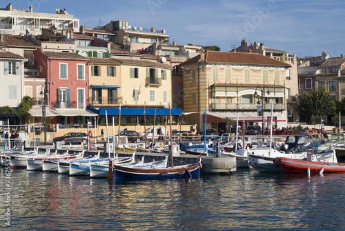 Foto auf AluDibond Stadt am Wasser Cassis harbour, French riviera