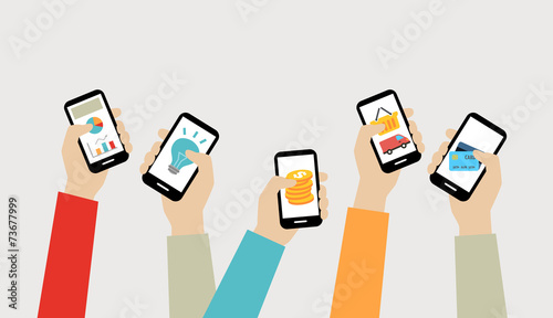 Fotografie, Obraz  Mobile Apps Concept