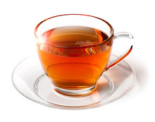 Shining Cup Of Morning Tea Isolated On White