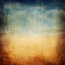 Vintage Landscape Canvas Background XXL