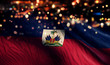 canvas print picture Haiti National Flag Light Night Bokeh Abstract Background