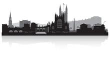 Bath City Skyline Silhouette