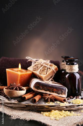 In de dag Chocolade Organic soap with coffee beans, sea salt