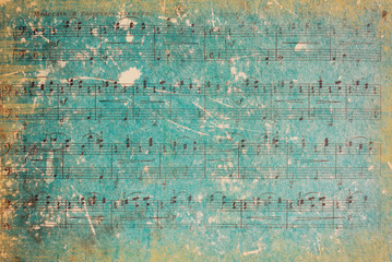 FototapetaVintage Background. Vintage Paper. Music Sheet.