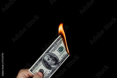 Fotografie, Obraz  Wasting money