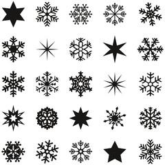 Schneesterne schwarz