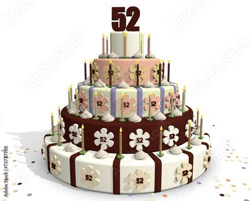 Fotografia  Feestelijk taart - 52 jaar