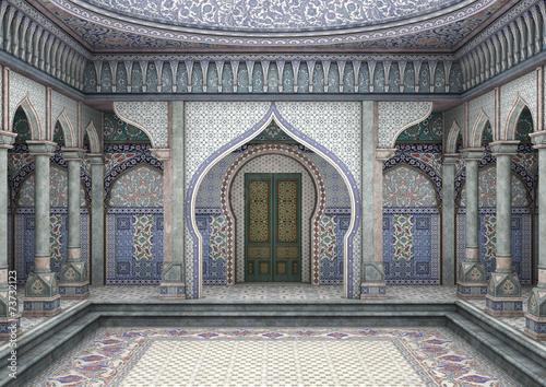 Fotografie, Obraz  3d Illustration Oriental Palace
