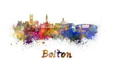 Bolton Skyline In Watercolor