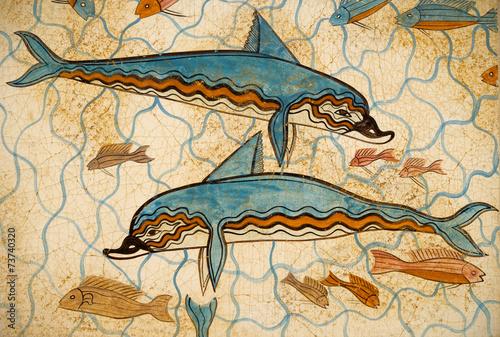 Obrazy do łazienki  dolphins-from-crete-greece