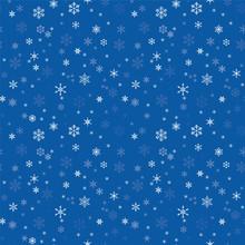 Seamless Texture With Snowflakes