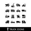 Truck black icon - Set 8