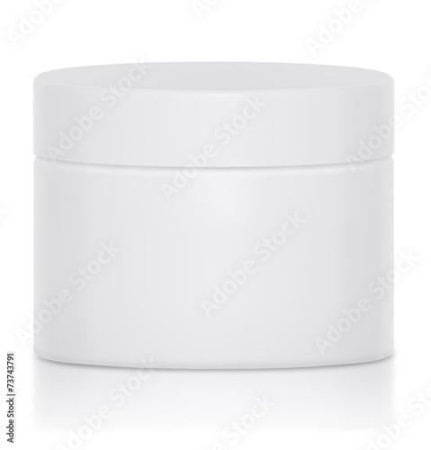 Fotografía  Mock UP Cream jar blank a logo