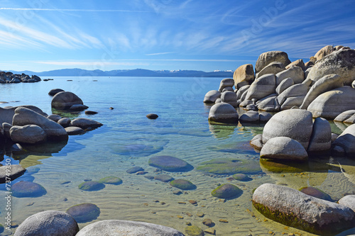Canvas Prints River, lake Lake Tahoe, Northern California