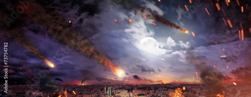 Fantasty picture of the apocalypse Canvas Print