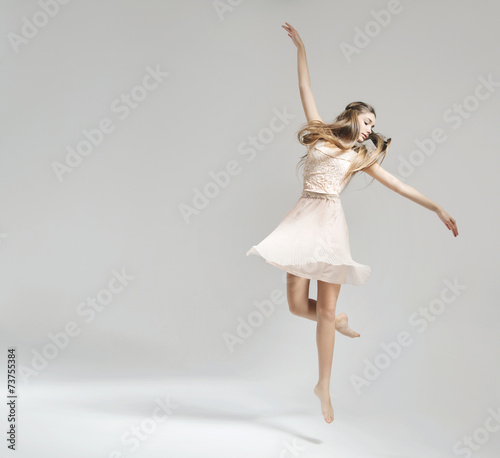 Pretty and young ballet dancer