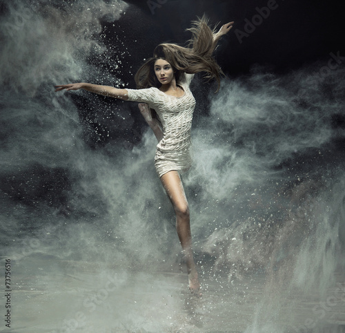 Talented ballet dancer catching the dust