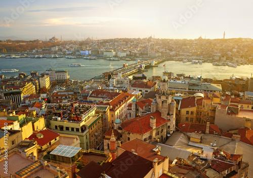 Photo  Istanbul Sunset Panorama