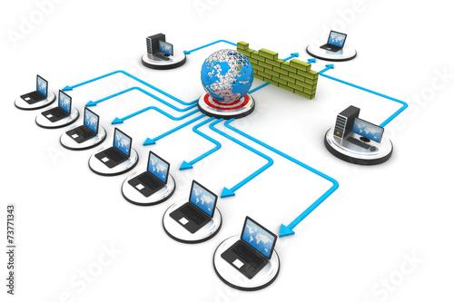 Fotografía  Computer Network