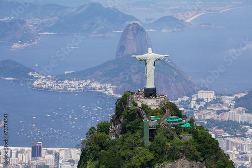 Türaufkleber Rio de Janeiro Aerial view of Rio de Janeiro