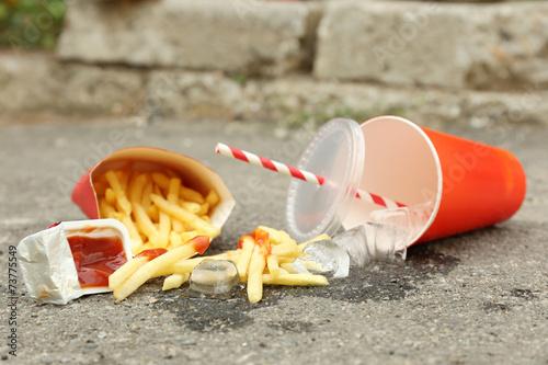 Photo Fast food litter