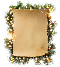Art Winter Christmas Frame