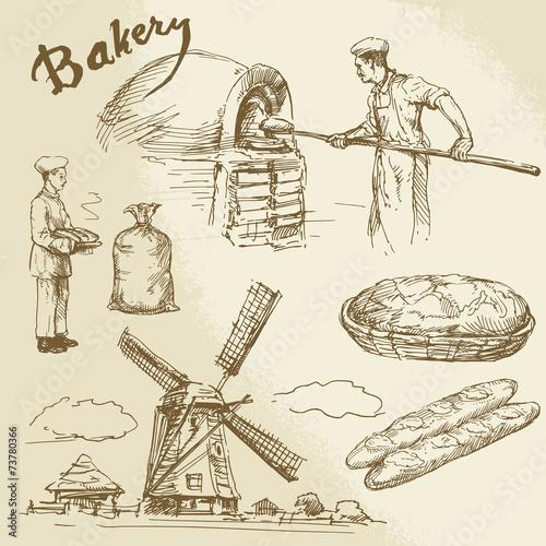 Fotografie, Obraz  baker, bakery, bread