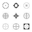 Vector crosshair icons set