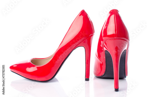 Fotografia  Red shoes with high heels