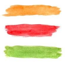 Colorful Vector Watercolor Bru...