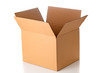 canvas print picture - Open cardboard box closeup