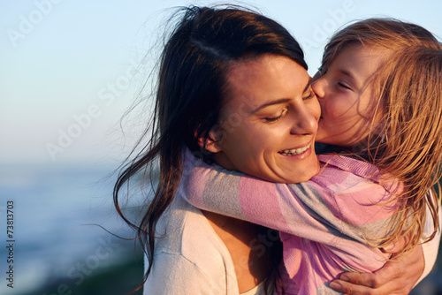 Photo  mother daughter love