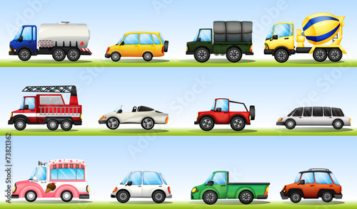 Staande foto Cartoon cars Vehicles