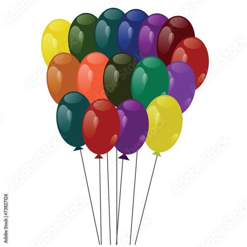 In de dag Ballon multicolored balloons