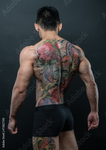 Korean model with tattoo