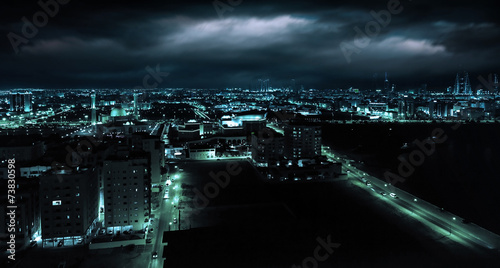 Night view of Manama, capital city of Bahrain, Middle East